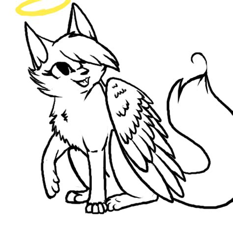 angel cat coloring page angel cat lineart d by soulcats on deviantart