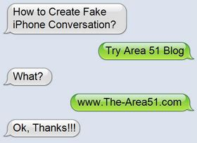 create  fake iphone text conversation  area