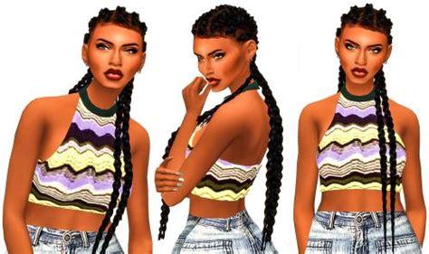 ebonix hair sims 4 ebonixsimblr ebonix slayage cornrows hello again
