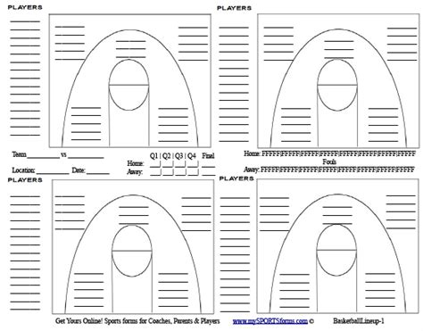 basketball lineup card template search results for basketball statistics sheet