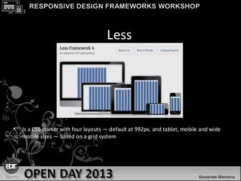 html responsive design framework edit open day responsive design frameworks