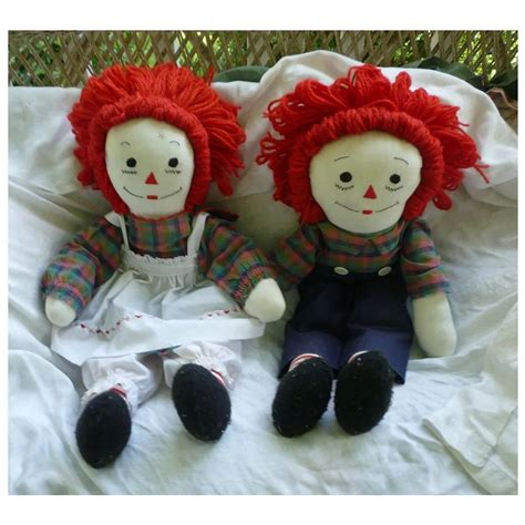 Handmade Raggedy And Andy Dolls - sweet large handmade vintage raggedy and andy dolls