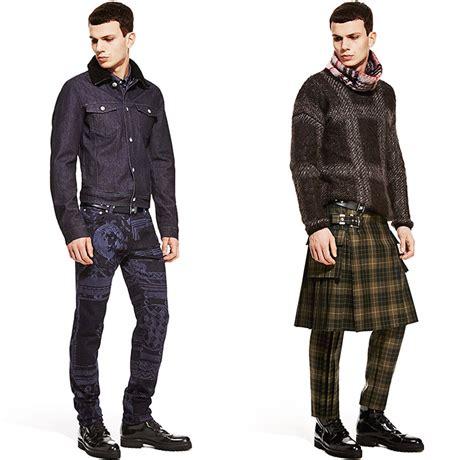 menswear denim winter 2015 trends versus versace 2015 2016 fall autumn winter mens looks