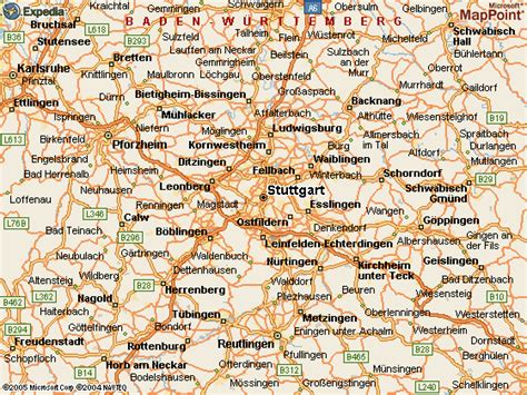 stuttgart on map maps of stuttgart