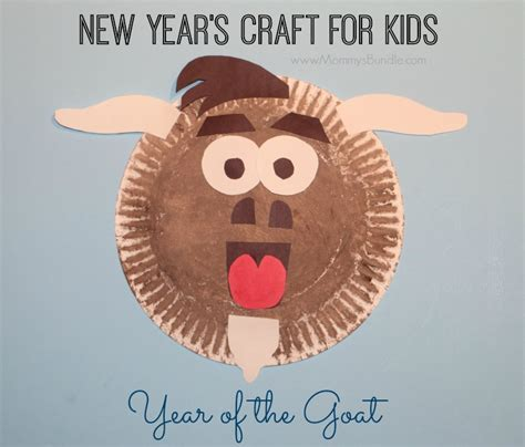 Paper Crafts For New Year - paper plate goat craft for the new year s bundle