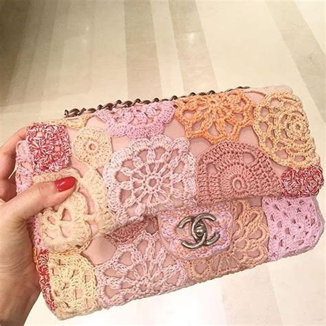 Poses With Chanel Flower Flap As Clutch by Chanel Flower Crochet Flap Bag Flower Crochet Crochet