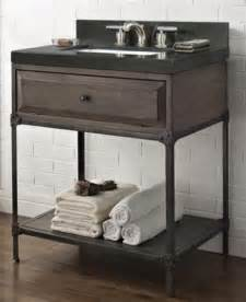 fairmont designs toledo open shelf vanity rustic