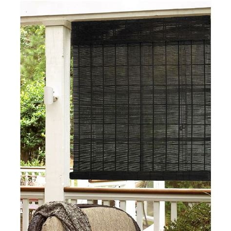 Roll Outdoor Blinds espresso bamboo indoor outdoor roll up shade