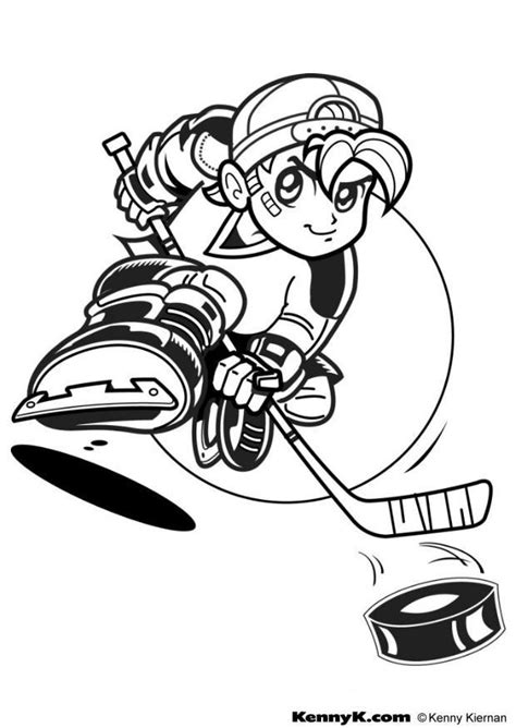 college hockey coloring pages kleurplaat hockey afb 7026