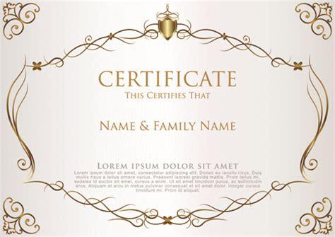 elegant certificate template vector design 02 vector