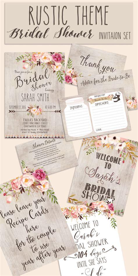 free bridal shower invitations free premium templates