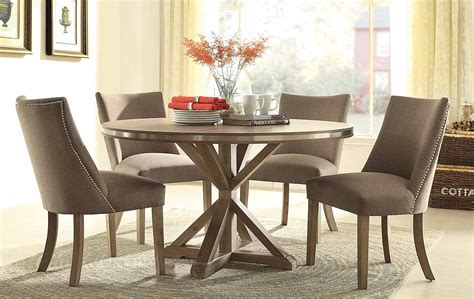 Grey Dining Room Table by 5 Piece Beaugrand Round Modern Dining Set Usa Furniture