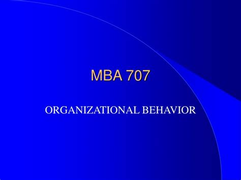 Mba Presentation by Ppt Mba 707 Powerpoint Presentation Id 4618213