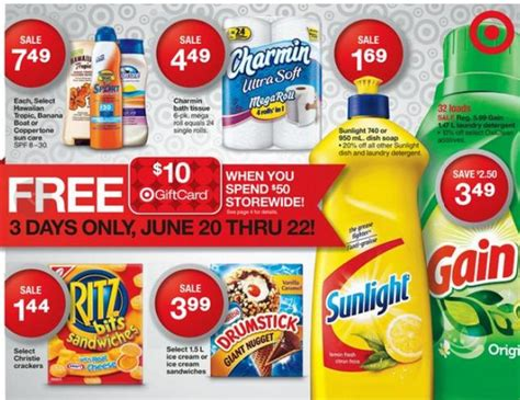 Target Gift Card Promotions - target canada promotions free 10 gift card when you spend 50 storewide friday