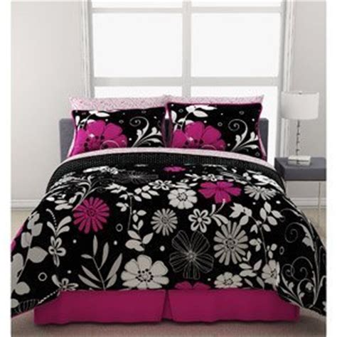 pink black and white bedding amazon com pink black white girls flowered twin