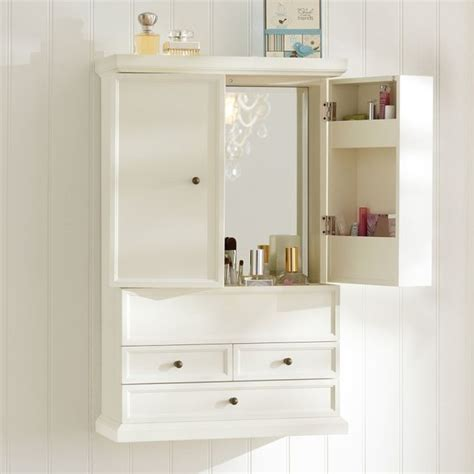 Hannah beauty wall cabinet bathroom cabinets and shelves other metro by pbdorm