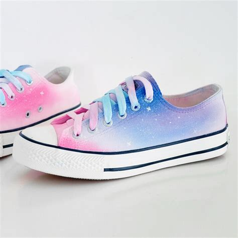 harajuku shoes harajuku galaxy gradient painted shoes 183 kawaii