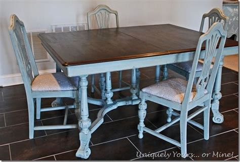 vintage dining table and chair set painted in cece