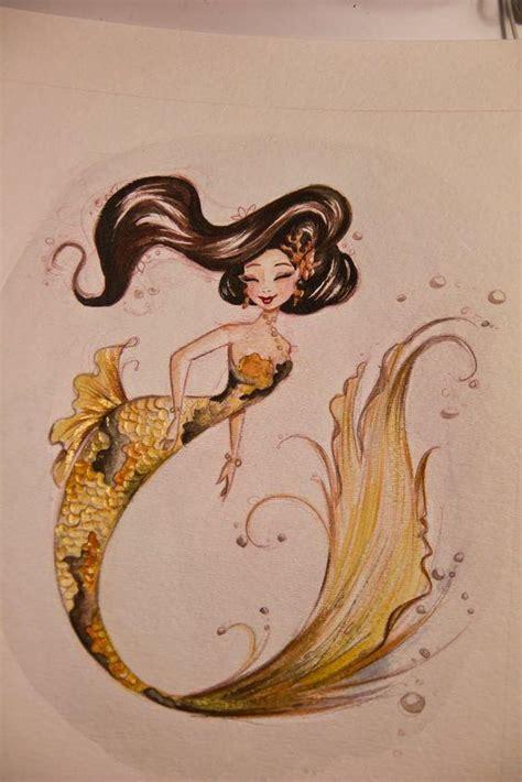 給人魚控 網友各種手繪版人魚插畫 每日頭條