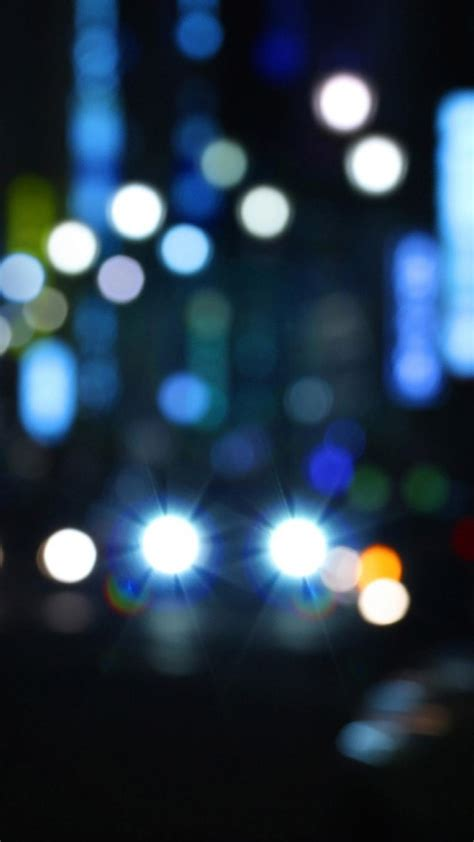 Tokyo night lights bokeh blurred cities background