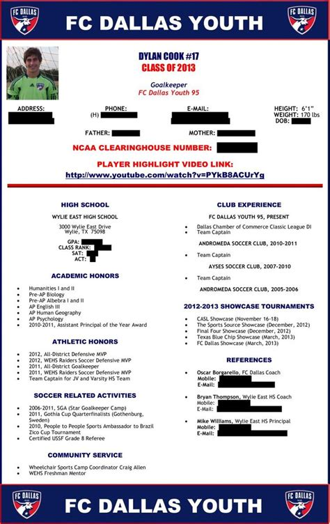 recruiting profile template soccer player profile sle 1 soccer recruitment