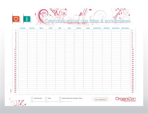 Calendrier Anniversaire Calendrier Anniversaire Famille Calendar Template 2016