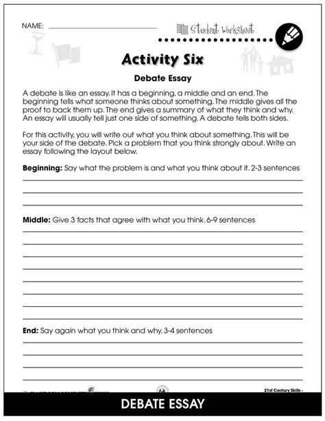 21st Century Skills Worksheet