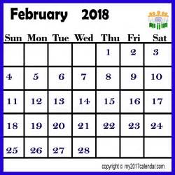 India Calendã 2018 February 2018 Calendar India Printable Monthly Calendars