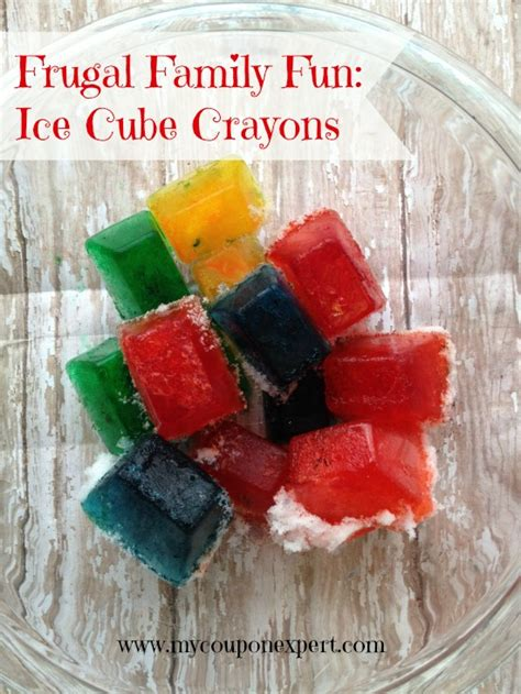 pininterest frugal friendship frugal family diy cube crayons for our friends with snow