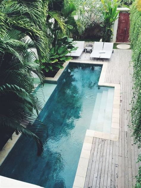 modern pools design with natural creative ideas 25 outdoor narrow pools for limited spaces home design