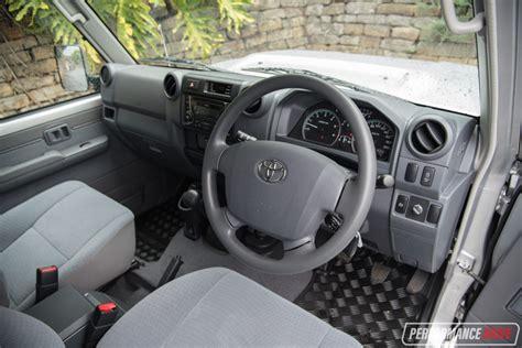 toyota land cruiser interior 2017 2017 toyota landcruiser 70 series gxl wagon review