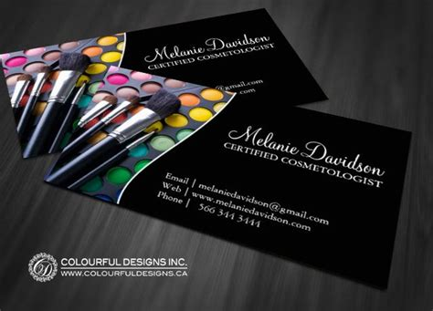 makeup artist name card template 92 best images about makeup artist business cards on