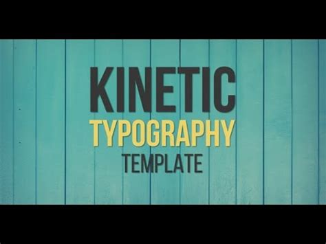 Kinetic Typography After Effects Template Youtube Kinetic Typography After Effects Template Free