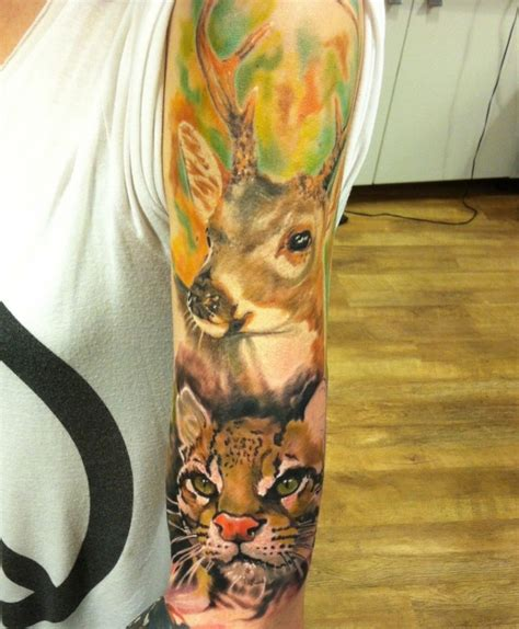 awesome watercolor animal on sleeve