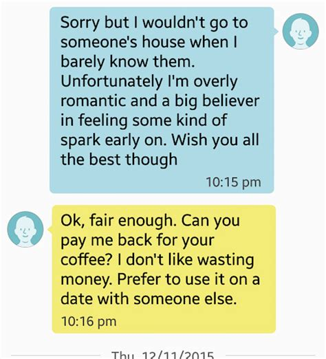 Asked Him For A Date by A Tinder User Asked A To Refund Him For Coffee