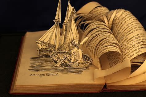 Still Has Magical by Justin Rowe Brings Books To With Magical Sculptures