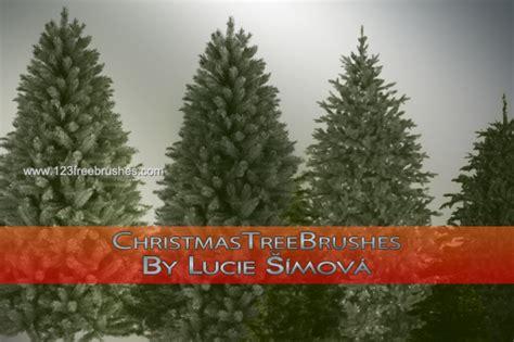 christmas trees photoshop designer brushes 123freebrushes