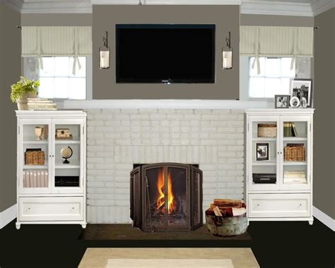 painted brick fireplace ideas fireplace design ideas