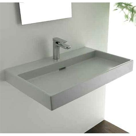 Wall Mount Countertop by 70 White Wall Mount Or Countertop Bathroom Sink Ws