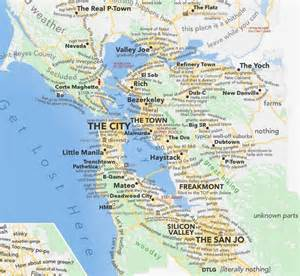 Map Of San Francisco Bay by Detailed Judgemental Map Of The Bay Area San Francisco