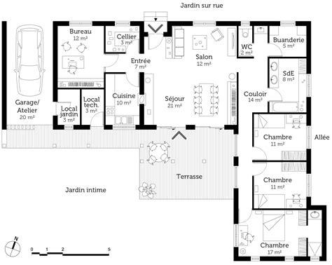 Maison En T Plain Pied by Plan Maison Proven 231 Ale De Plain Pied Ooreka