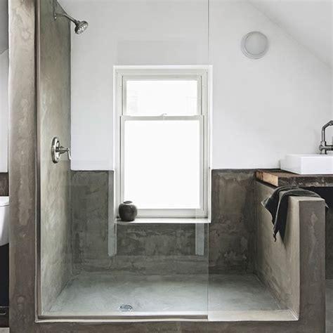 Modern Bathroom Shower Ideas by Minimalist Concete Shower Room Modern Shower Room Ideas