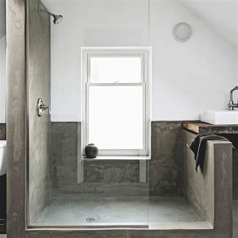 modern bathroom shower ideas minimalist concete shower room modern shower room ideas housetohome co uk