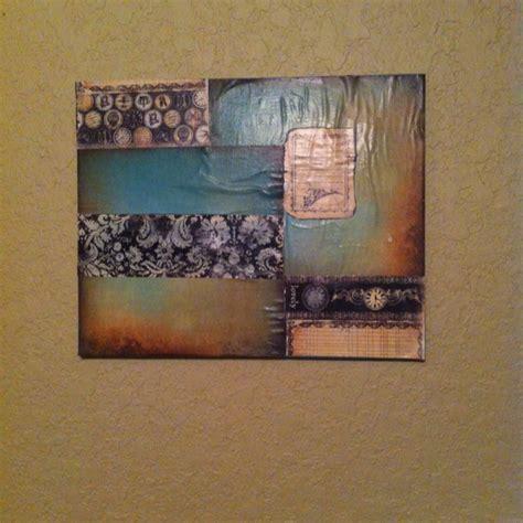 mod podge acrylic paint on canvas mod podge on canvas for the home