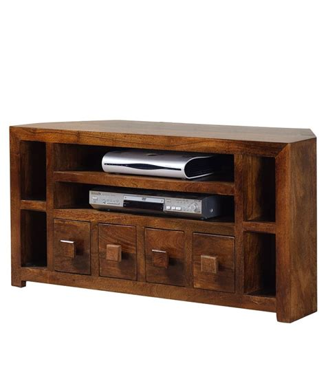 Corner Tv Stand With Drawers by 4 Drawer Corner Tv Stand Buy At Best Price In