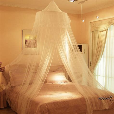 White round lace insect bed canopy netting curtain dome mesh mosquito net ebay