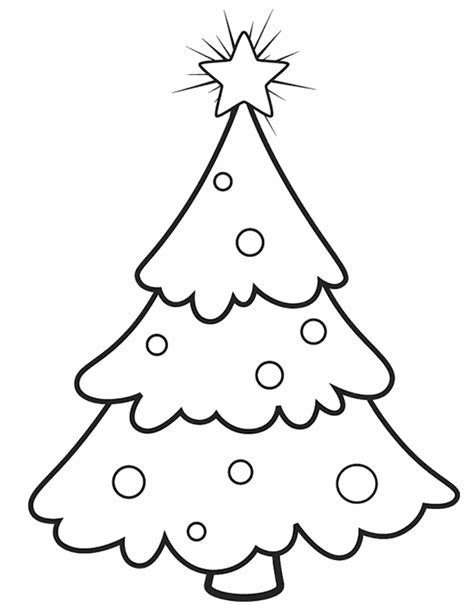 Christmas Tree Ornaments Coloring Pages Coloring Home Tree Coloring Page With Ornaments