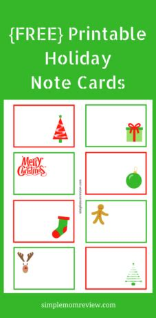 quick printable christmas cards holiday note cards free printable simple mom review
