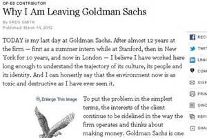 greg smith goldman sachs resignation letter goldman sachs employee resigns abc news
