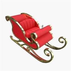 santa and sleigh santa claus sleigh 3d x